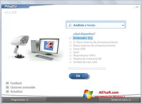 Skærmbillede PrivaZer Windows 7