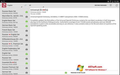 Skærmbillede ABBYY Lingvo Windows 7