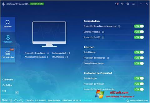 Skærmbillede Baidu Antivirus Windows 7