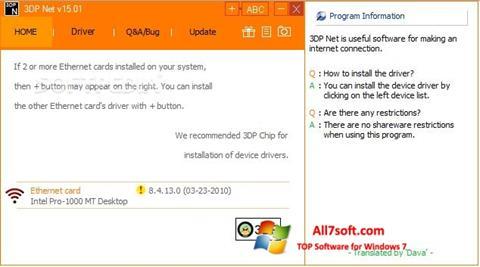 Skærmbillede 3DP Net Windows 7