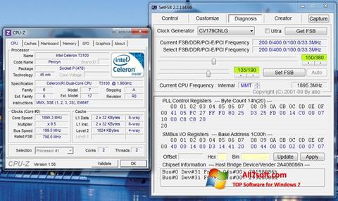 Skærmbillede SetFSB Windows 7