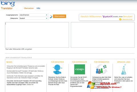 Skærmbillede Bing Translator Windows 7