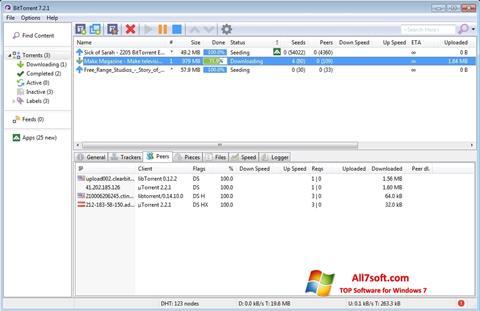 Skærmbillede BitTorrent Windows 7