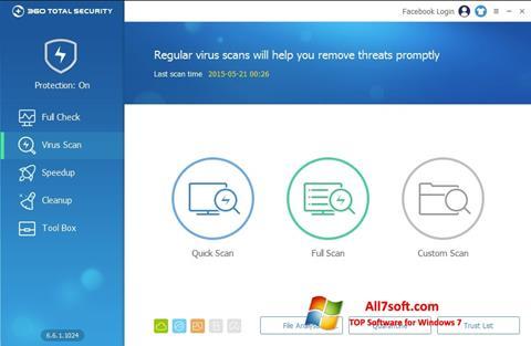 Skærmbillede 360 Total Security Windows 7
