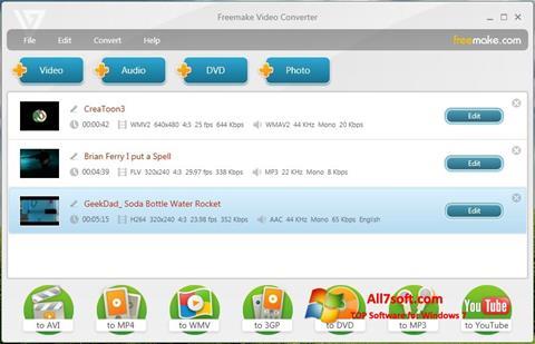 Skærmbillede Freemake Video Converter Windows 7