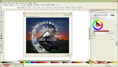 Skærmbillede Inkscape Windows 7