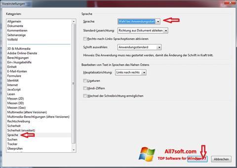 Skærmbillede Adobe Reader Windows 7