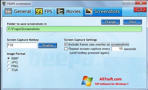 Skærmbillede Fraps Windows 7