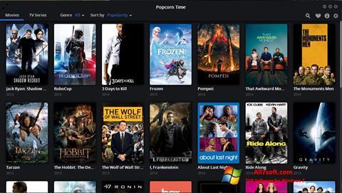Skærmbillede Popcorn Time Windows 7