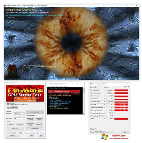 Skærmbillede FurMark Windows 7