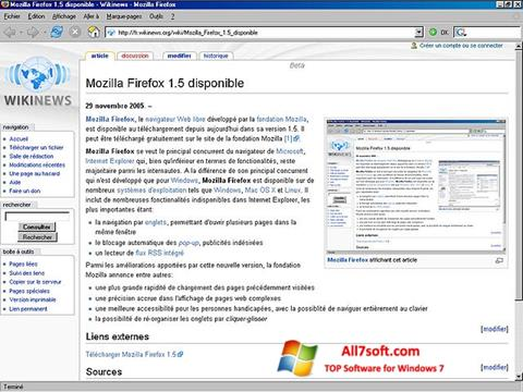 Skærmbillede Mozilla Firefox Windows 7