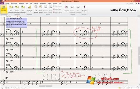 Skærmbillede Sibelius Windows 7