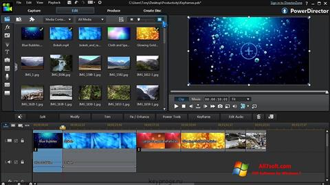 Skærmbillede CyberLink PowerDirector Windows 7