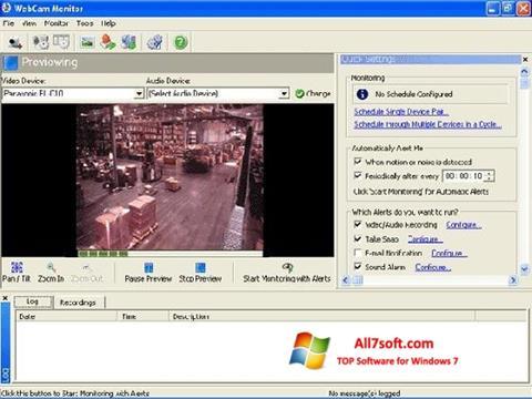 Skærmbillede WebCam Monitor Windows 7