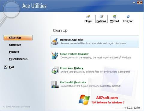 Skærmbillede Ace Utilities Windows 7
