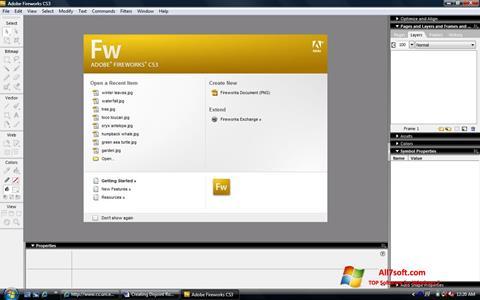 Skærmbillede Adobe Fireworks Windows 7