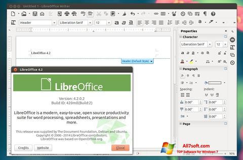 Skærmbillede LibreOffice Windows 7