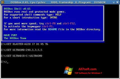 Skærmbillede DOSBox Windows 7