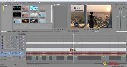 Skærmbillede Sony Vegas Pro Windows 7