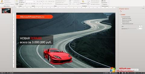 Skærmbillede Microsoft PowerPoint Windows 7