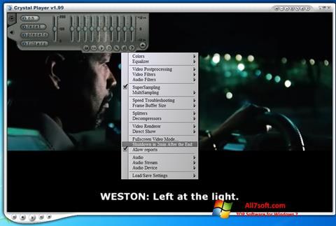 Skærmbillede Crystal Player Windows 7
