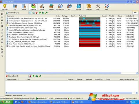 Skærmbillede eMule Windows 7