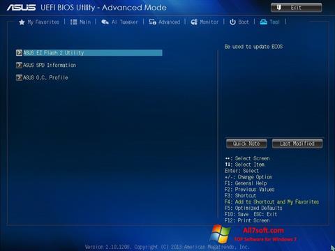 Skærmbillede ASUS Update Windows 7