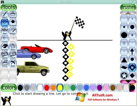 Skærmbillede Tux Paint Windows 7