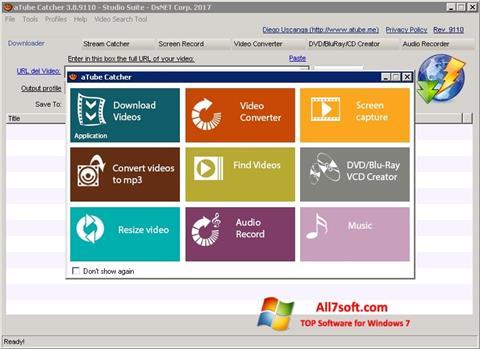 Skærmbillede aTube Catcher Windows 7