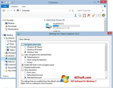 Skærmbillede Classic Shell Windows 7