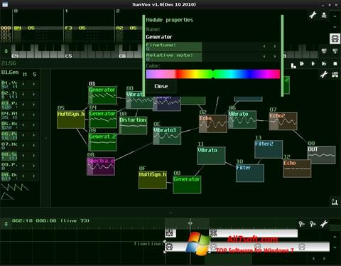 Skærmbillede SunVox Windows 7