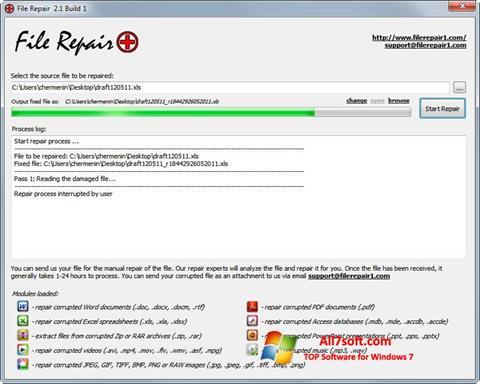 Skærmbillede File Repair Windows 7
