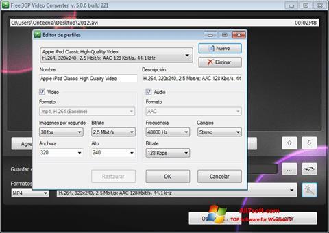 Skærmbillede Free MP4 Video Converter Windows 7