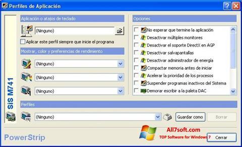 Skærmbillede PowerStrip Windows 7