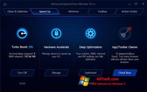 Skærmbillede Advanced SystemCare Ultimate Windows 7