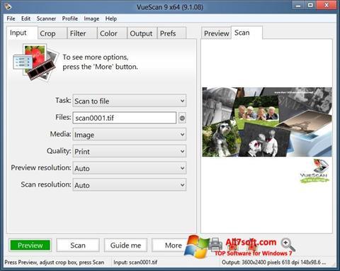 Skærmbillede VueScan Windows 7