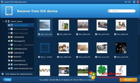 Skærmbillede iPhone Data Recovery Windows 7