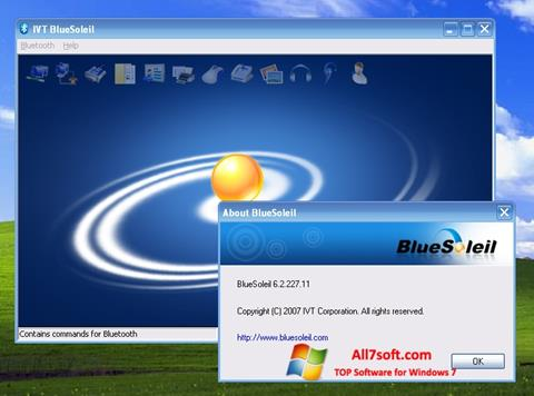 Skærmbillede BlueSoleil Windows 7