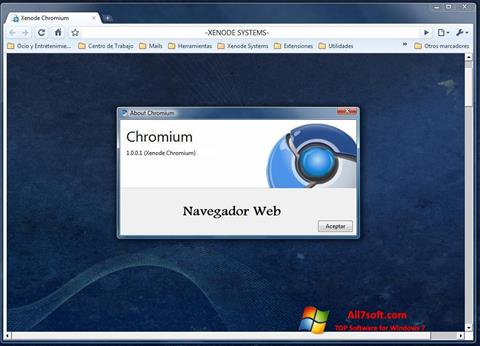 Skærmbillede Chromium Windows 7