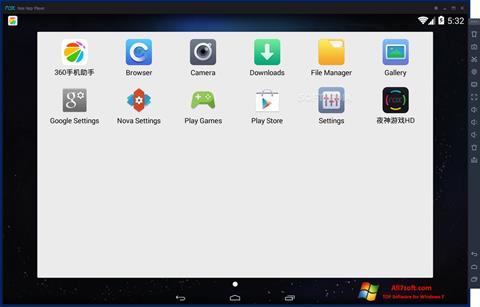 Skærmbillede Nox App Player Windows 7