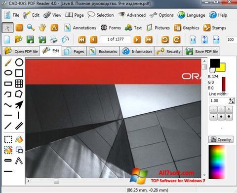 Skærmbillede PDF Reader Windows 7