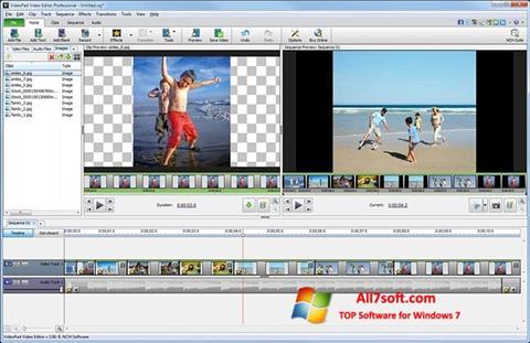 Skærmbillede VideoPad Video Editor Windows 7
