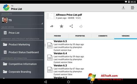 Skærmbillede Alfresco Windows 7