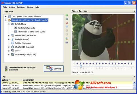 Skærmbillede ConvertXToDVD Windows 7