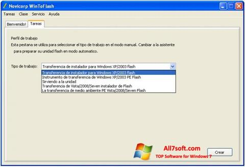 Skærmbillede WinToFlash Windows 7