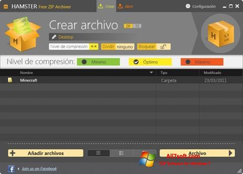 Skærmbillede Hamster Free ZIP Archiver Windows 7