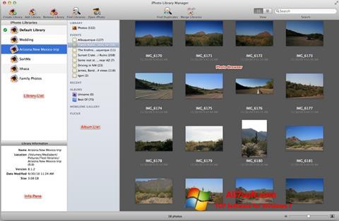 Skærmbillede iPhoto Windows 7
