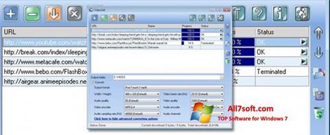 Skærmbillede VideoGet Windows 7