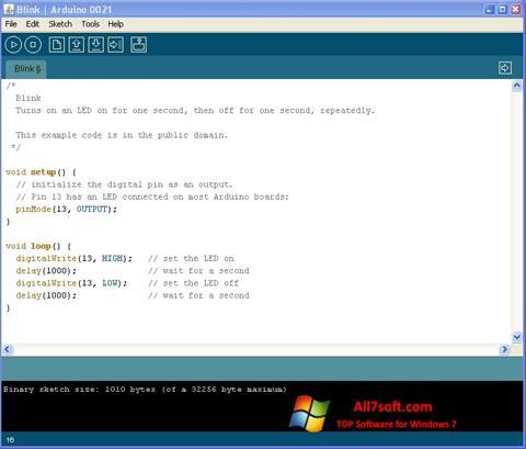 Skærmbillede Arduino Windows 7