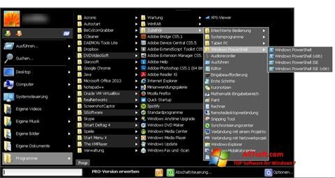 Skærmbillede Start Menu X Windows 7